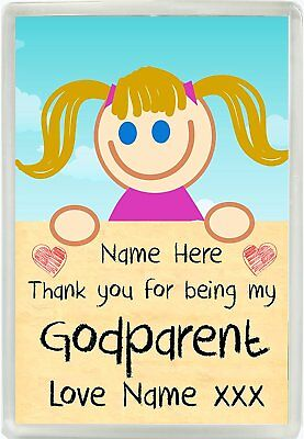 £4.50 • Buy Personalised Girls Thank You For Being My Godparent Magnet Christening Gift 834