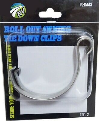 AU14.40 • Buy On The Road Awning Tie Down Clips Roll Out Caravan Rv Bus Jayco Carefree Parts