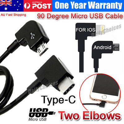 AU11.95 • Buy USB To Type-C / Android / Iphone Cable For DJI Spark Mavic Pro Remote Controller