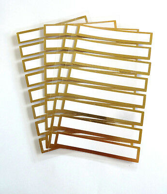 £3.10 • Buy Decorative Write-on Stickers With Gold Frame Labels For Cards & Invites RCL7980