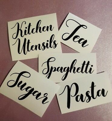 Sticker Label For Kitchen Glass Jars/Tins/Canisters/Tubs/Storage/Boxes/Box/Pots • 1.50£