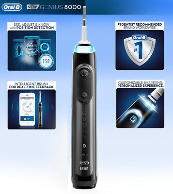 AU88.22 • Buy Oral-B Genius Pro 8000 Electronic Power Rechargeable Electric Toothbrush Handle