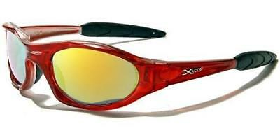 Xloop Womens Mens Sports Cycle Running Red/silver Mirror Sunglasses New 01 • 8.95£