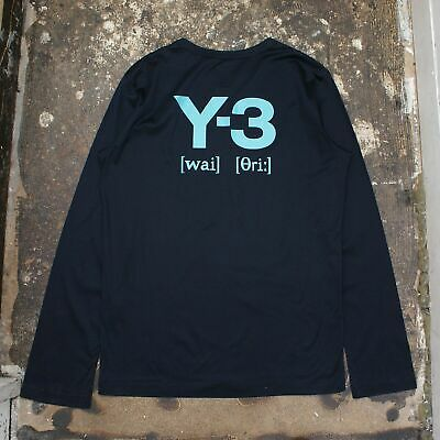 New Adidas Y-3 Navy Long Sleeved T Shirt With Logo On Back Size S BNWT RRP £170 • 107.99£