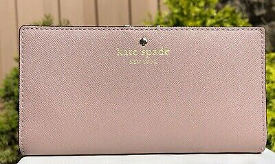 $ CDN75.49 • Buy New Kate Spade Mikas Pond Stacy Saffiano Leather Medium Bifold Wallet Porcini