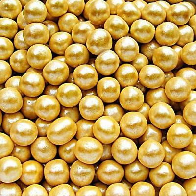 $8.49 • Buy 6mm Gold Sugar Balls Pearls Natural Cake Decorations Edible Toppers Nuts Free