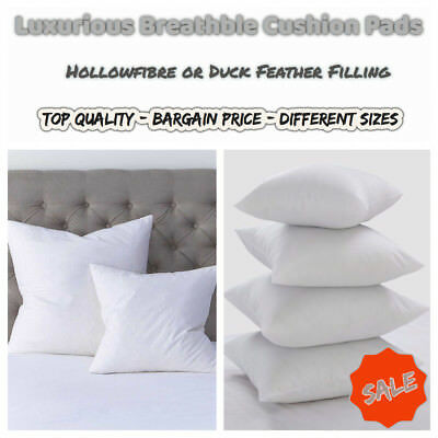 Top Quality HollowFibre And Duck Feather Cushion Pads/Inners/Fillers • 7.48£