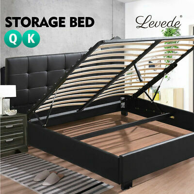 AU299.99 • Buy Levede Gas Lift Bed Frame Base Mattress Storage King Queen Double Single Size