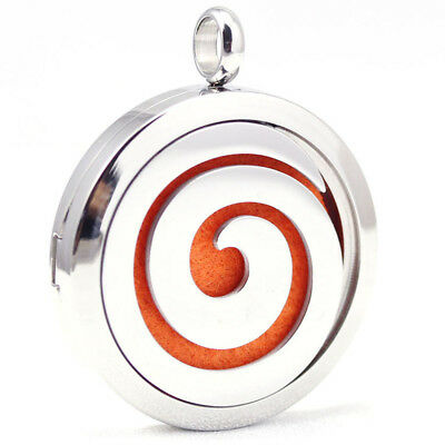 AU29 • Buy Elegant - Scroll, Diffuser Necklace Locket Stainless Still 10ml Oil, 11 Pads