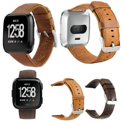 $ CDN14.34 • Buy Leather Wrist Bands Strap For New Fitbit Versa/Lite/Special Edition Replacement