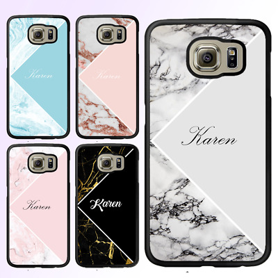 AU12.95 • Buy Galaxy S10 S10E Note 10 S9 S8 Plus Bumper Cover Case Marble II Personalised Name