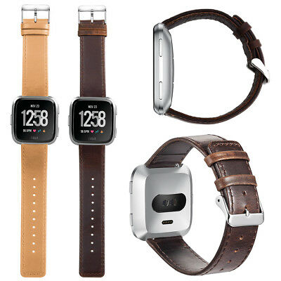 $ CDN15.72 • Buy Leather Watch Band For Fitbit Versa 2/Versa Lite Edition/Versa Special Edition