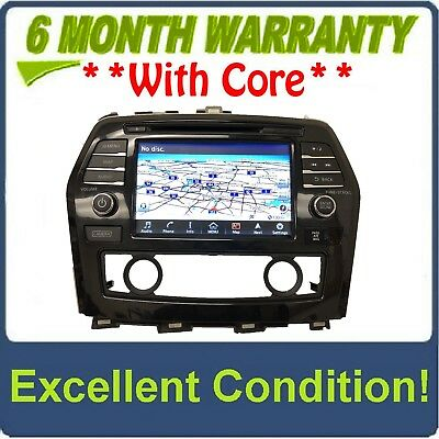$445.50 • Buy 2016 - 2017 Nissan Maxima OEM BOSE Touch Screen Navigation AM FM XM Receiver