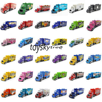 $19.29 • Buy Cars 2 McQueen The King Chick Hicks Mack Haulers Truck Metal Toy Car 1:55 Loose