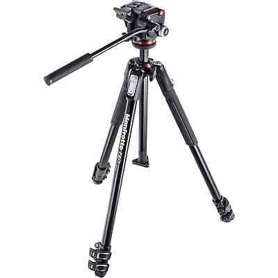 AU439.95 • Buy Manfrotto 190X3 Three Section Tripod With MHXPRO-2W Fluid Head