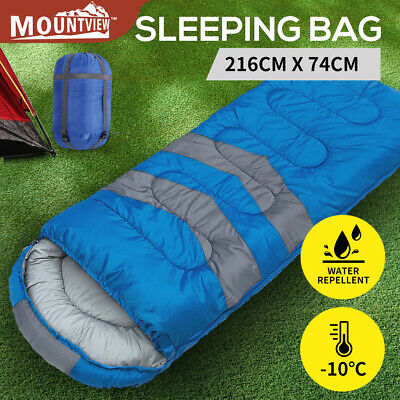 AU39.99 • Buy Mountview Sleeping Bag Single Bags Outdoor Camping Hiking Thermal -10℃ Tent Blue