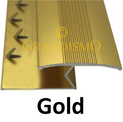 Carpet To Tile / Wood / Laminate Floor Trim - Threshold Strip Door Bar - Gold • 9.95£