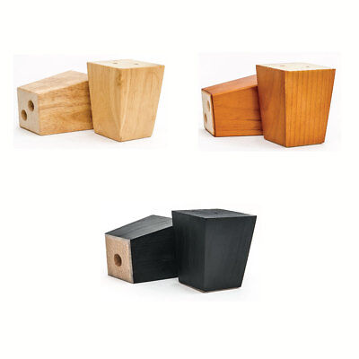 AU10.95 • Buy Set Of 1/4/6/10 - 10cm /4'' Tapered Wooden Furniture Sofa Couch Cabinet Feet Leg