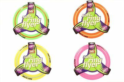 £6.45 • Buy Coloured Flying Frisbee Soft Ring Flyer Dog Puppy Play New Pet Outdoor Disc Toys