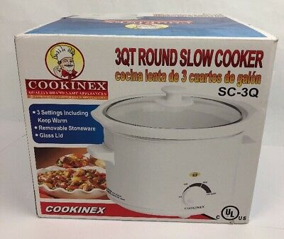 $ CDN29.69 • Buy Crock Pot Slow Cooker Portable Small Size Dipper Meal Easy Cook For 2-4 Gift 3qt