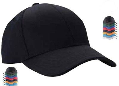 Plain Baseball Caps Mens Baseball Caps Unisex Peak Caps Summer Hats Sports Cap • 4.95£