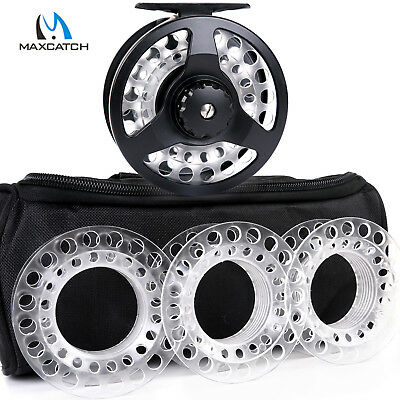 $ CDN74.09 • Buy Maxcatch Fly Reel Combo Cassette Fly Fishing Reel With 3 Extra Cassette Spools