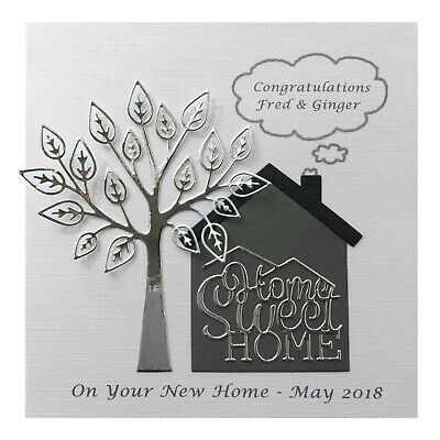 Handmade PERSONALISED Card New Home House • 4.99£