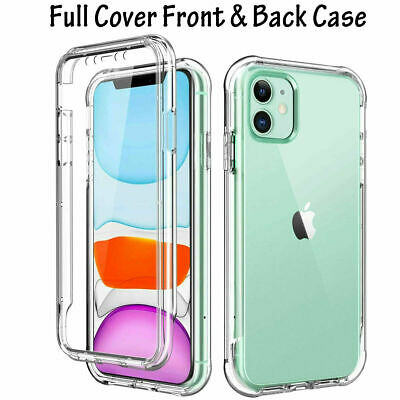$ CDN6.67 • Buy For Samsung S20 S21 S10 + FE   Full Body 360° Silicone GEL Clear Dual Case Cover
