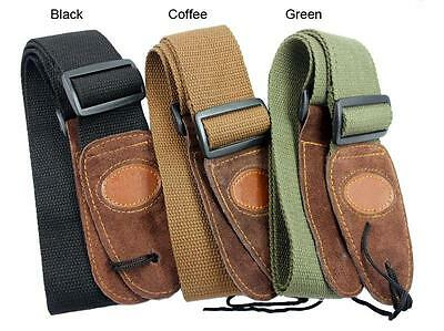 $ CDN6.81 • Buy Coffee Adjustable Leather Ends Guitar Strap For Electric Acoustic Guitar Bass