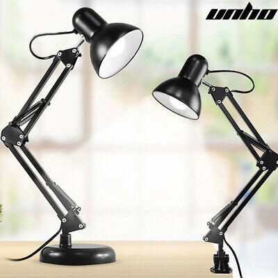 AU29.91 • Buy Super Bright Swing Arm Desk Lamp Clamp On Table Light With Metal Clip & E27 Bulb