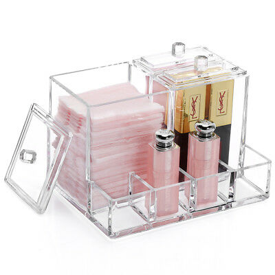 $ CDN12.55 • Buy NEW! OnDisplay ZINNEA ACRYLIC COSMETICS/BATH ORGANIZER - QTIPS/COTTON HOLDER