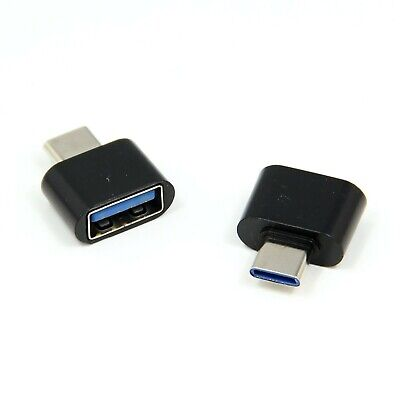 2 PCS USB Type C Male Jack To Standard USB Female OTG Adapter For Samsung Huawei • 2.40£