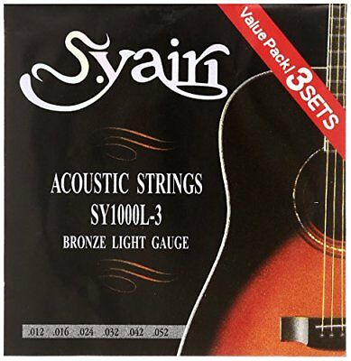 AU21.34 • Buy S. Yairi Acoustic Guitar String SY-1000L-3 3set Pack Light (012-052) SY-1000L-3