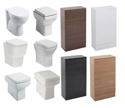 Slimline BTW Back To Wall 490mm X 155m Choices Toilet Unit WC Pan Cistern & Seat • 99.95£