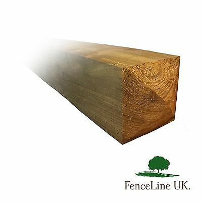 £69.95 • Buy 8ft 6 X 6  150mm X 150mm Pressure Treated Gate Post Weather Top Heavy Duty