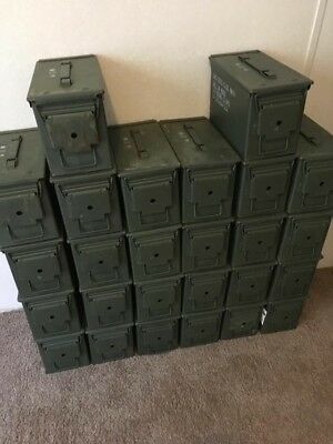 $49.99 • Buy (4 Pack) Ammo Can US Army Military M2A1 50 Cal Ammunition Metal Storage