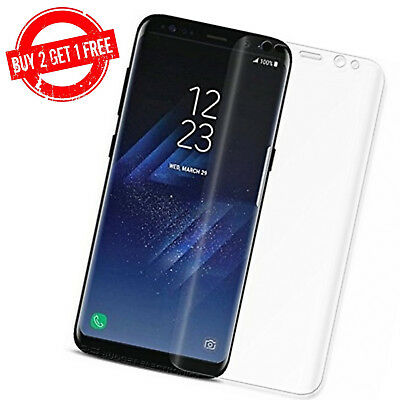 $ CDN3.95 • Buy Samsung Galaxy S8 Full Coverage Clear Anti-Bubble 3D Film Screen Protector
