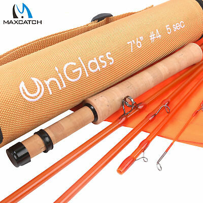 $ CDN110 • Buy Maxcatch UniGlass Fly Fishing Travel Rod 3/4/5WT 7'6'' 8'0  3 Pieces Fiberglass