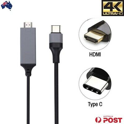 AU15.75 • Buy USB C To HDMI Cable USB 3.1 Type C To HDMI Male 4K Cord For Samsung S8 S8+ S9