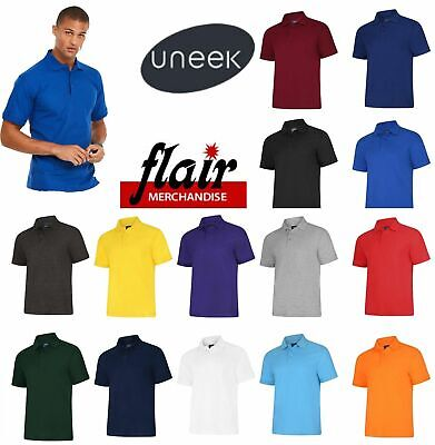 £6.64 • Buy Uneek Unisex Polo Shirt, Active UC108 14 Colours (XS-8XL) Work Wear Causal Top