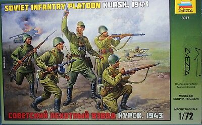 Plastic Toy Soldiers Russian Infantry Platoon WWII Scale 1:72 ZVEZDA • 10.72£