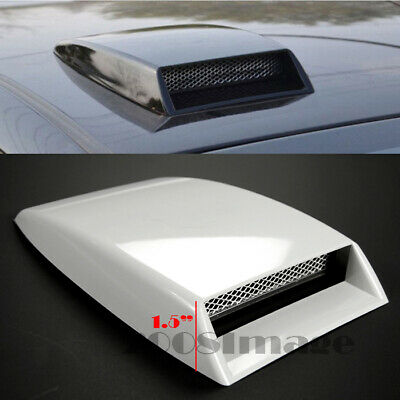 $19.94 • Buy 10  X 7.25  Front Air Intake ABS Unpainted White Hood Scoop Vent For Mitsubishi