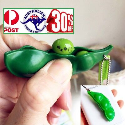 AU9.99 • Buy Anti Stress Relief Fidget Squeeze Bean Squishy Pendant Key Ring Pokebean