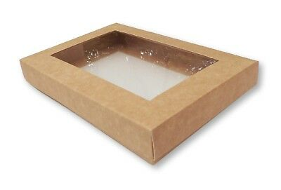 10 Kraft A6 Window Boxes, Gift, Greeting Cards, Photographs, Photos • 6.99£