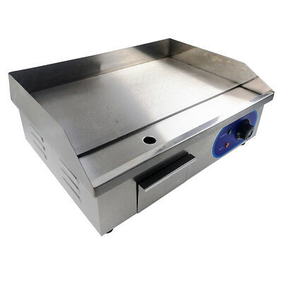 Electric Griddle Large Hotplate Chip Commercial Grill Bacon Egg Fryer 3KW 550mm • 79.90£