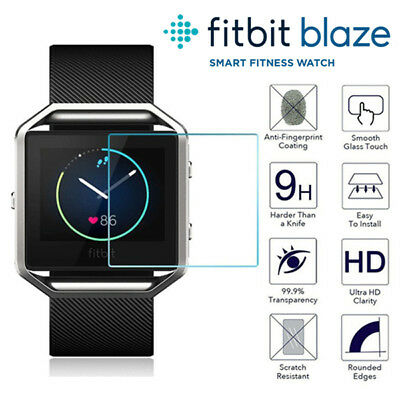 AU8.79 • Buy 2x For Fitbit Blaze Tempered Glass LCD Screen Protector Cover Film Fitness Watch
