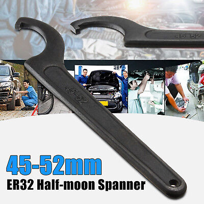 AU17.99 • Buy Heavy Duty Steel 45-52mm Half Moon C Spanner Mill Hook Holder Wrench CNC Tool