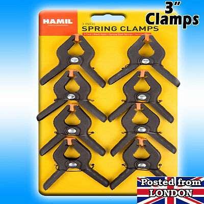 Spring Grip CLAMPS PRO STUDIO BACKGROUND / BACKDROP SUPPORT 3 Inch Heavy Duty UK • 3.95£