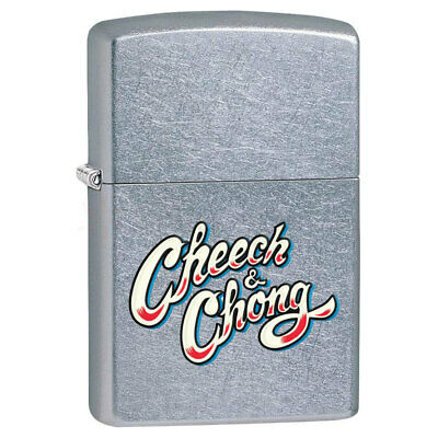 AU29 • Buy Zippo Cheech & Chong Logo 28475 Genuine Chrome Finish Pocket Lighter Windproof