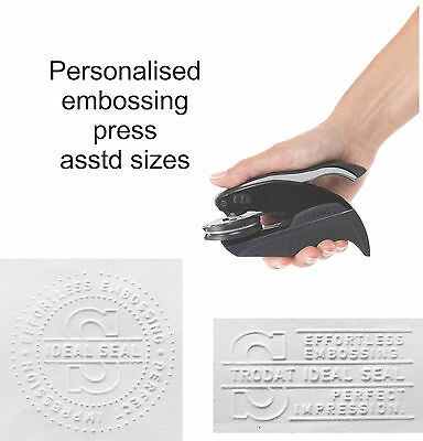 £37.50 • Buy Personalised Bespoke Embossing Rubber Stamp Press/seal/plier Documents Wafers